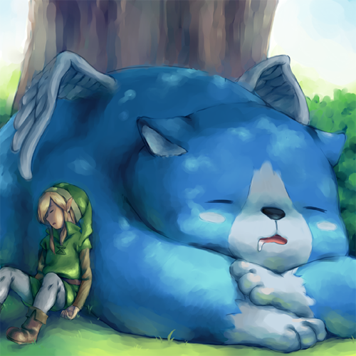 The Legend of Zelda wallpaper entitled Link and Moosh