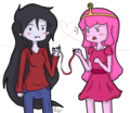 Marceline and PB - bubbleine fan art