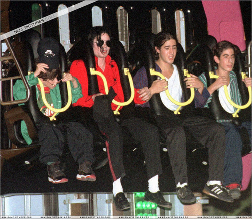 Michael Jackson on the coaster ride