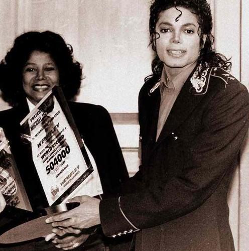 Michael Jackson's mom Katherine Jackson and Michael Jackson