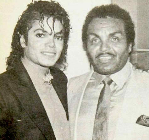 Michael Jackson with his father Joe Jackson