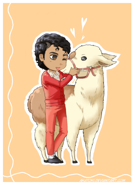 Michael and Louie The Llama - cute manga