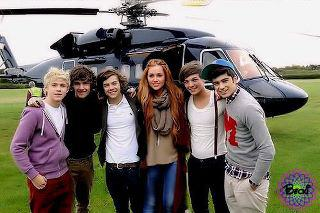 Miley Cyrus with One Direction