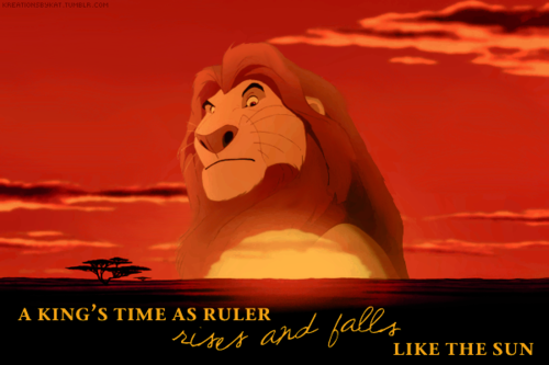 Mufasa-A King's Time as a Ruler Rises and Falls Like the Sun