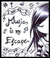 Muzik is my escape