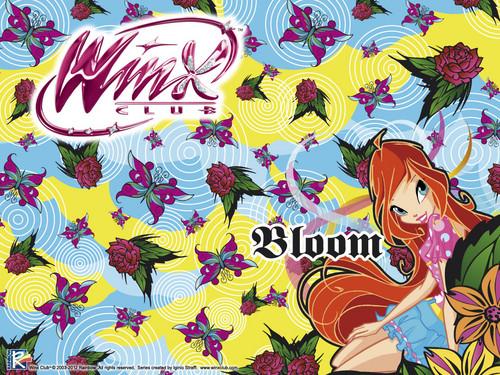 Official karatasi la kupamba ukuta 2012 Bloom City girl