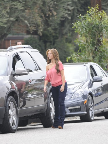 On The Set Of The Client List In Los Angeles [13 March 2012]