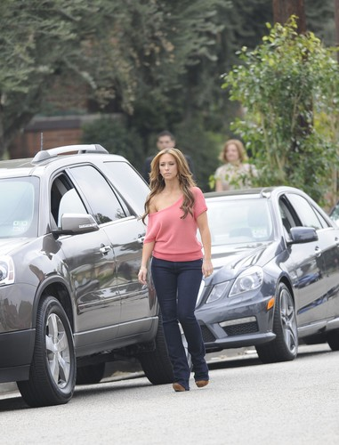 On The Set Of The Client liste In Los Angeles [13 March 2012]