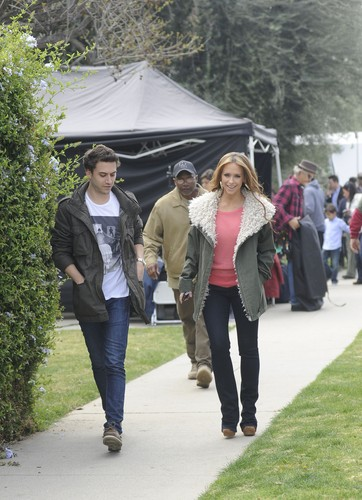On The Set Of The Client lista In Los Angeles [13 March 2012]