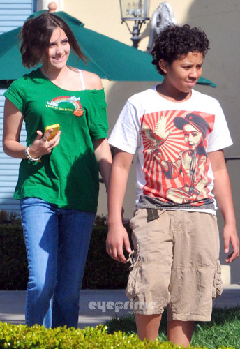 Paris Jackson and Jermajesty Jackson at the Commons in Calabasas March 11th 2012