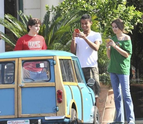 Prince Jackson, Jaafar Jackson and Paris Jackson at the Commons in Calabasas March 11th 2012