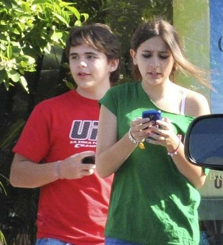 Prince Jackson and Paris Jackson at the Commons in Calabasas March 11th 2012