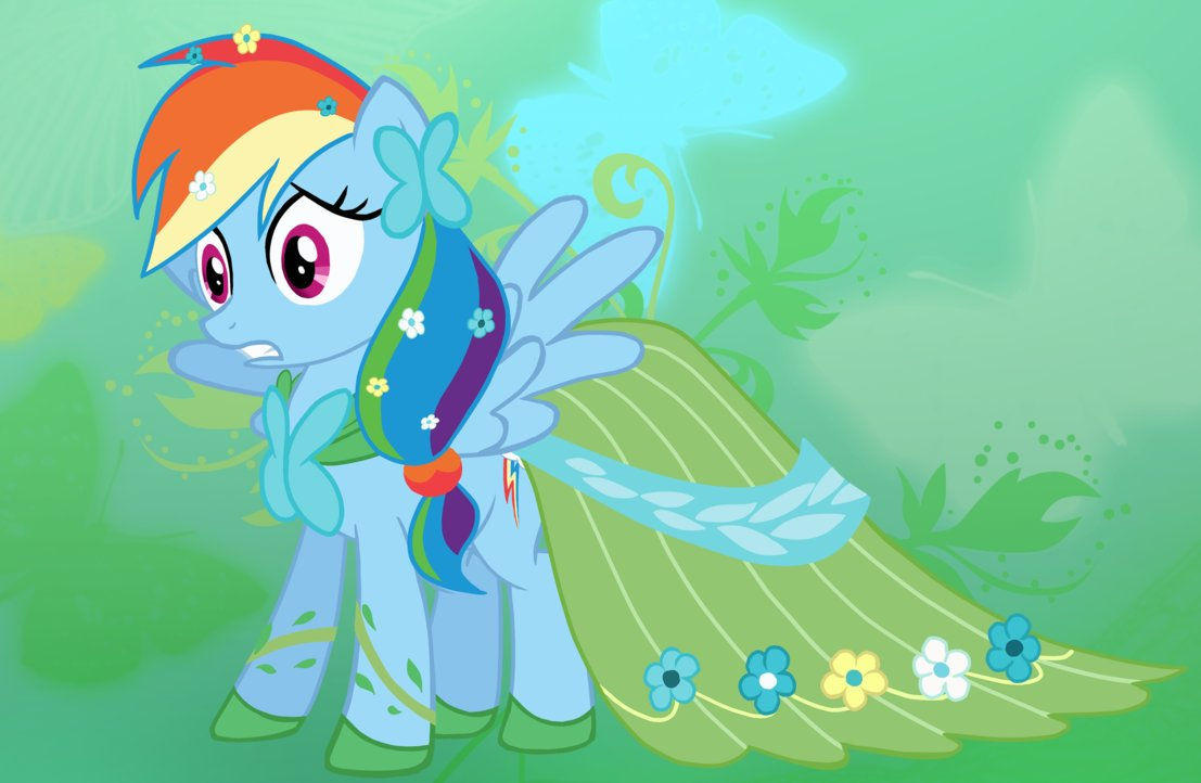 Rainbow Dash in Fluttershy's Dress