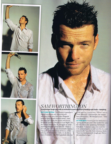 Sam Worthington wallpaper probably with a portrait titled Sam @ photoshoots