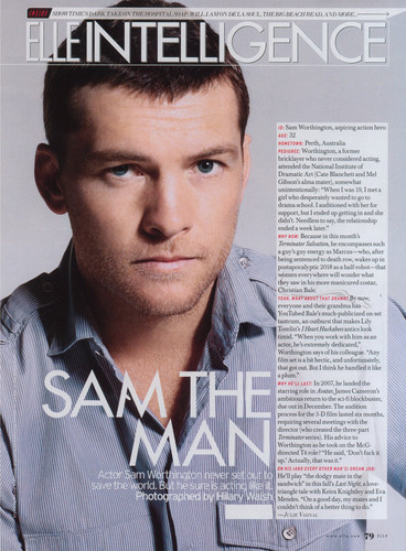 Sam Worthington wallpaper probably containing anime and a portrait titled Sam @ photoshoots