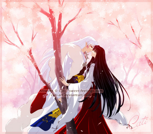 InuYasha and Ranma 1/2 hình nền with a bouquet titled Sesshoumaru & Kikyo