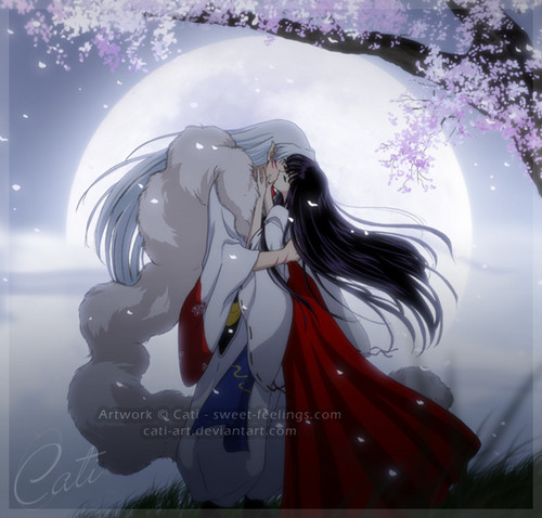 InuYasha and Ranma 1/2 wallpaper called Sesshoumaru & Kikyo