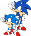 Sonic & Classic Sonic - sonic-shadow-and-silver photo