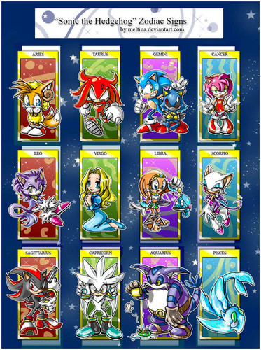 Silver the Hedgehog karatasi la kupamba ukuta containing a slot, a slot machine, and a stained glass window called Sonic Zodiac Signs