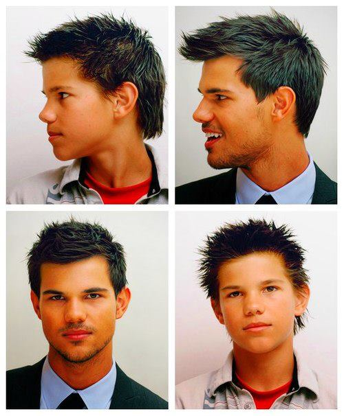 Taylor Lautner - before and after - taylor-lautner fan art