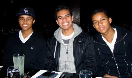 The Jackson Brothers Donte, Randy Jr and Jaafar Jackson