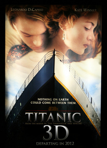 titanic wallpaper containing a sign called titanic 3D fanart movie poster