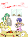 Valentine's giorno _ Akane and Lum_ in the cucina