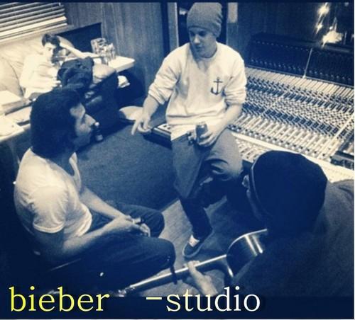 bieber at studio
