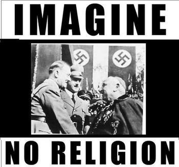 Atheism karatasi la kupamba ukuta with anime entitled imagine no religion