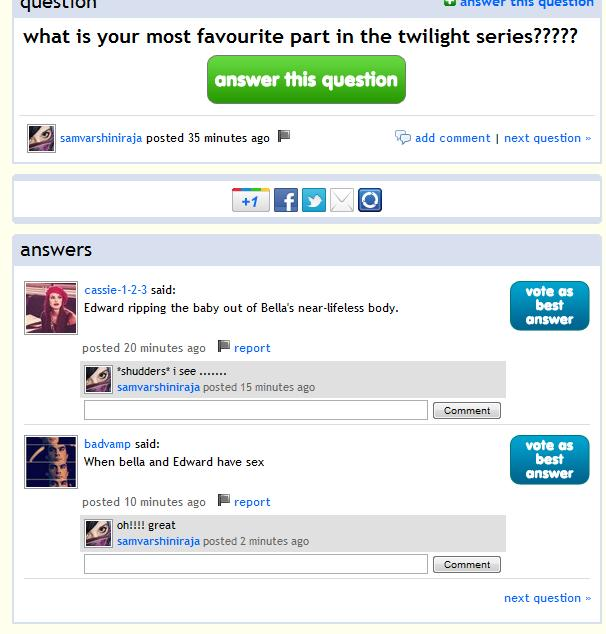 is this what Twilight fans like? sick people
