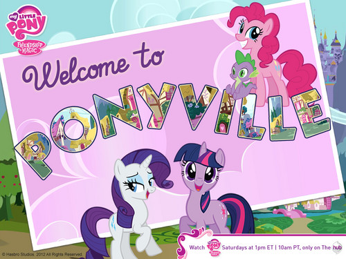 mlp greetings from ponyville - my-little-pony-friendship-is-magic Wallpaper