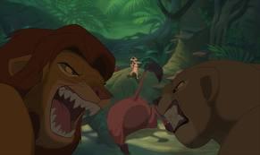 simba and nala fight