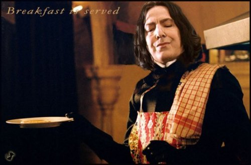Severus Snape wallpaper probably with a sign called ☆ Breakfast is served ☆