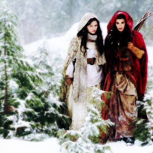 "Snow White/Mary Margaret Blanchard wallpaper titled ""Red Handed"""