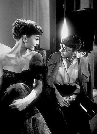 Audrey Hepburn with Edith Head