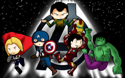 The Avengers wallpaper containing anime titled Avengers Fanart