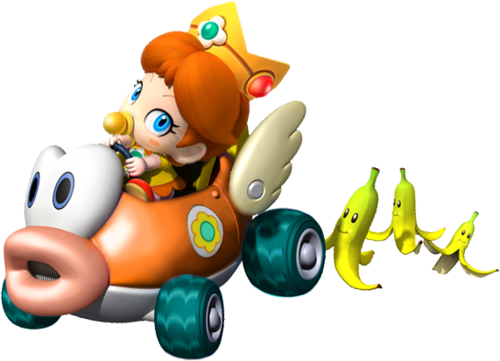 Baby madeliefje, daisy in Mario Kart Wii