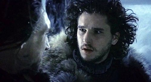 Benjen Stark and Jon Snow