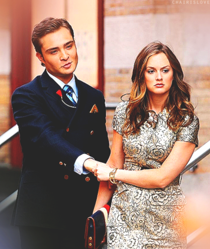 Blair & Chuck wallpaper probably containing a business suit, a bridesmaid, and a dress suit entitled Blair & Chuck