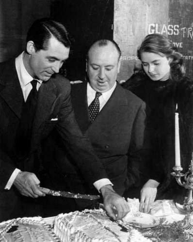 Cary Grant, Alfred Hitchcock & Ingrid Bergman
