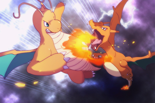Charizard and Dragonite