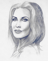 Cilla's draw - priscilla-presley fan art