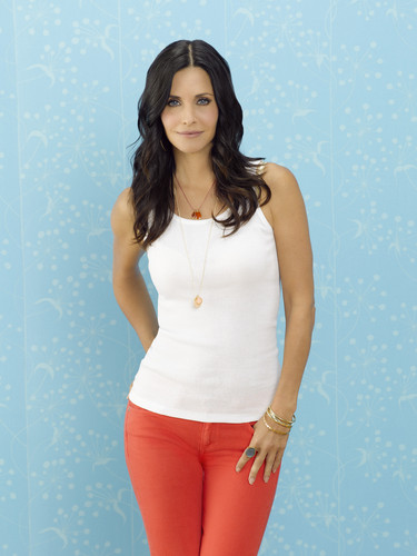 courtney cox wallpaper probably with a playsuit, tights, and a leotard called Cougar Town promos