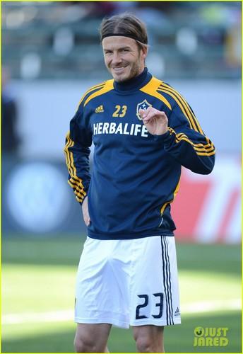 David Beckham: First L.A. Galaxy Win of the Season