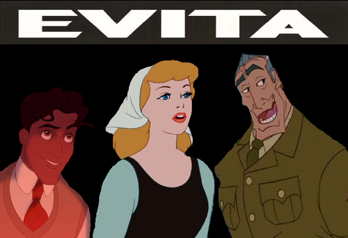 disney crossover wallpaper with anime entitled Disney's Evita