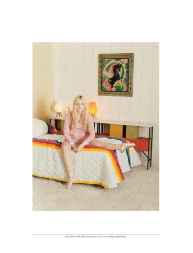Elle Fanning photographed by Venetia Scott