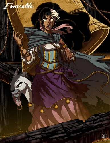 The Hunchback of Notre Dame wallpaper containing anime called Esmeralda