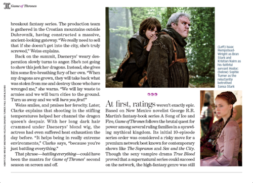 Game of Thrones- EW Article Scan