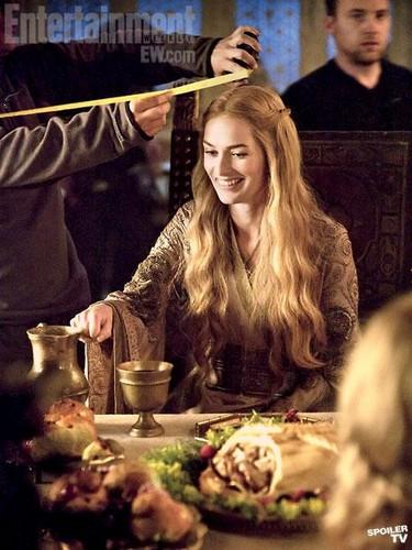 Cersei Lannister- BTS foto