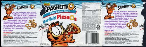 Garfield PizzaO's pasta